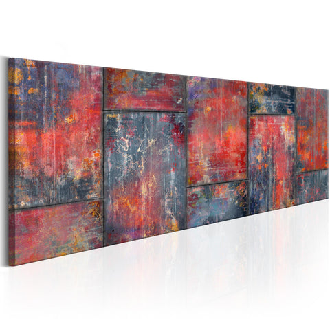 Canvas Print - Metal Mosaic: Red