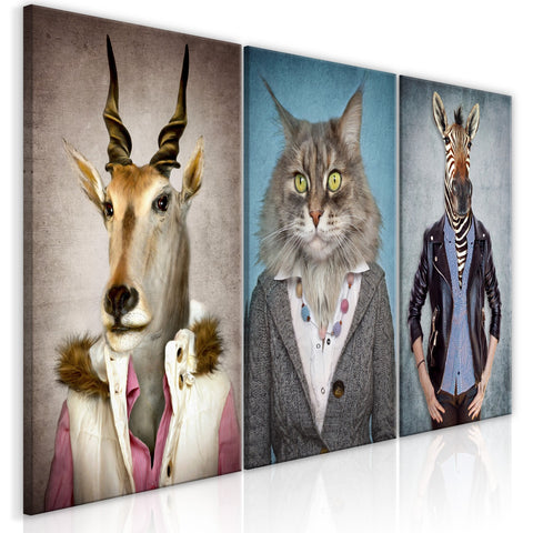 Canvas Print - Menagerie (3 Parts)