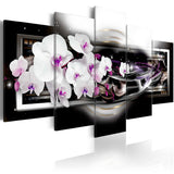 Canvas Print - Orchids on a black background