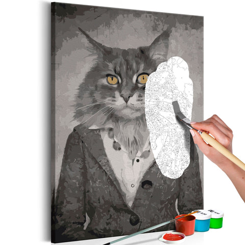 DIY canvas painting - Elegant Cat