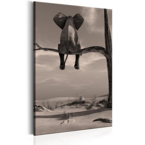 Canvas Print - Elephant in the Desert