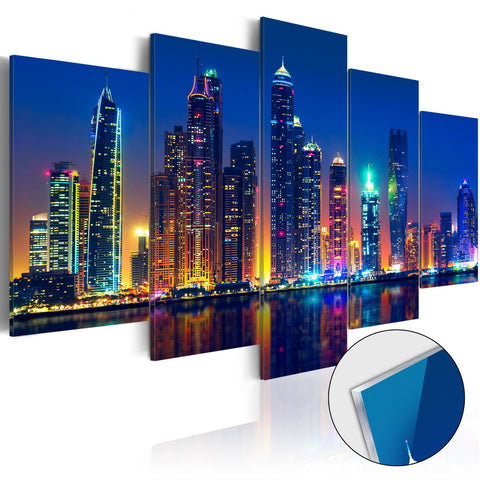 Acrylic Print - Nights in Dubai [Glass]