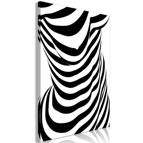 Canvas Print - Zebra Woman (1 Part) Vertical