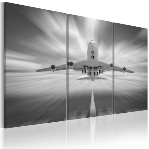 Canvas Print - Towards the clouds - triptych