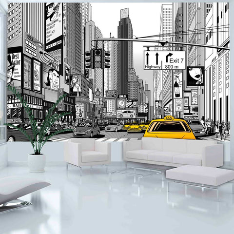 Wallpaper - Yellow cabs in NYC