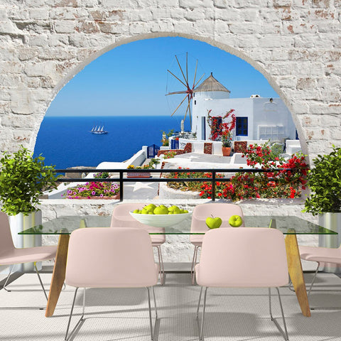 Wallpaper - Summer in Santorini