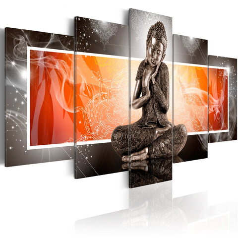 Canvas Print - Buddha and ornaments