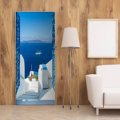 Photo wallpaper on the door - Holidays in Greece