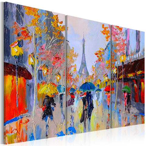 Handmade painting - Rainy Paris
