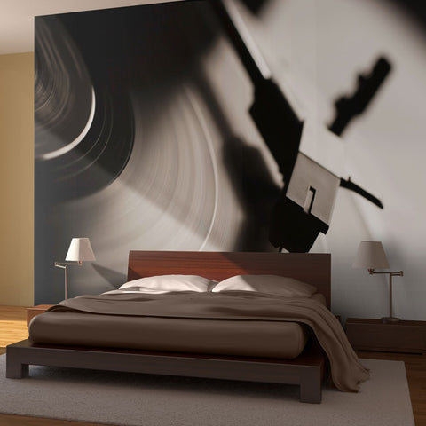 Wallpaper - Gramophone and vinyl record
