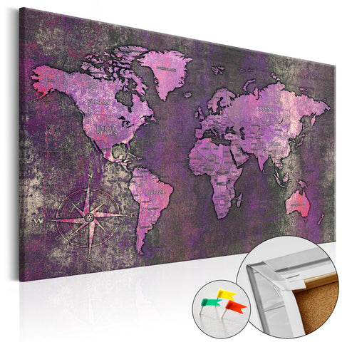 Decorative Pinboard - Amethyst Map [Cork Map]