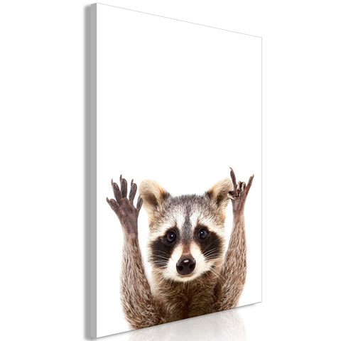 Canvas Print - Raccoon (1 Part) Vertical