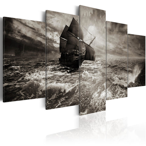 Canvas Print - Ship in a storm