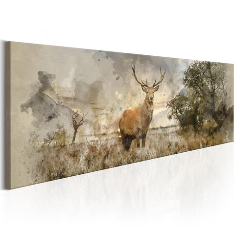 Canvas Print - Watercolour Deer