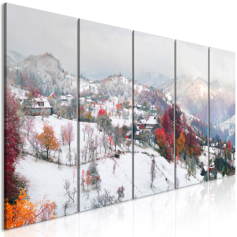 Canvas Print - First Snow (5 Parts) Narrow