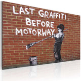 Canvas Print - Last graffiti before motorway (Banksy)