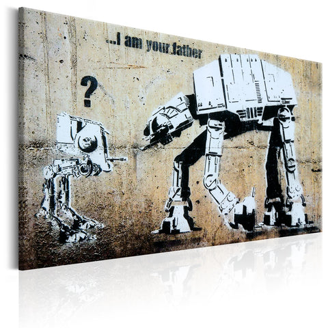 Canvas Print - I Am Your Father by Banksy