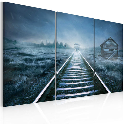 Canvas Print - A journey in the fog