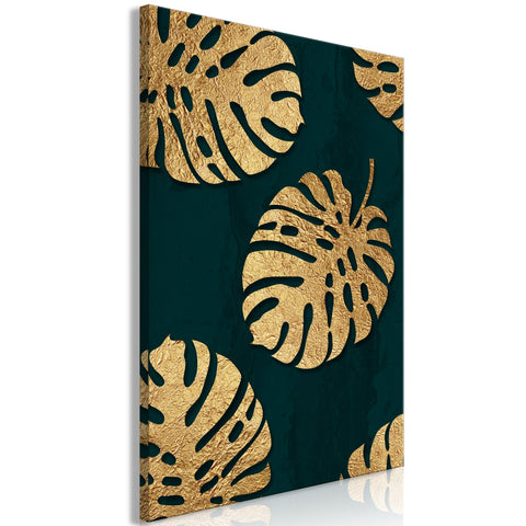 Canvas Print - Leaves of Luxury (1 Part) Vertical