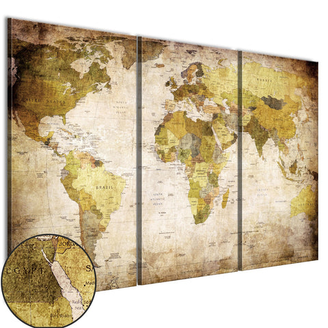 Canvas Print - Old continents