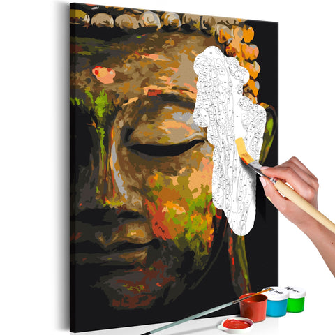 DIY canvas painting - Buddha in the Shade