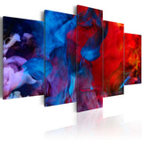 Canvas Print - Dance of Colourful Flames