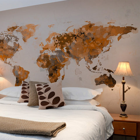 Wallpaper - World in brown shades