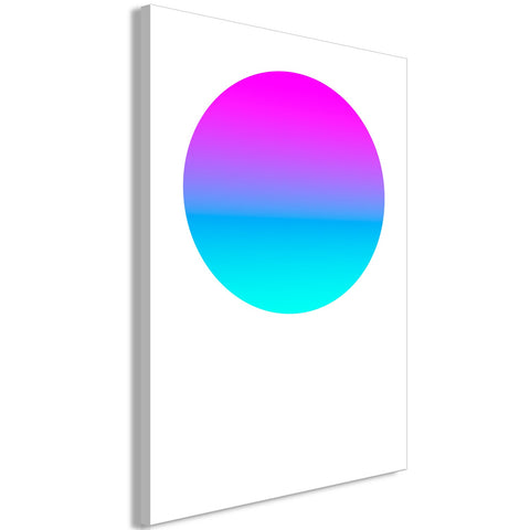 Canvas Print - Colourful Circle (1 Part) Vertical