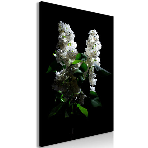 Canvas Print - Lilacs at Night (1 Part) Vertical