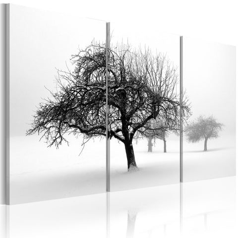 Canvas Print - Trees submerged in white