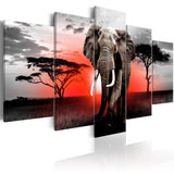 Canvas Print - Lonely Elephant