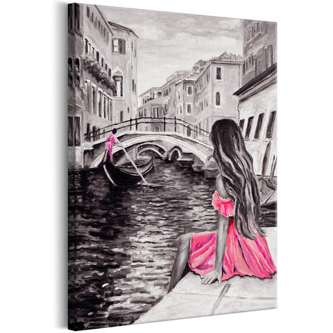 Canvas Print - Woman in Venice (1 Part) Vertical