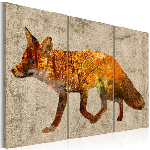 Canvas Print - Fox in the Wood