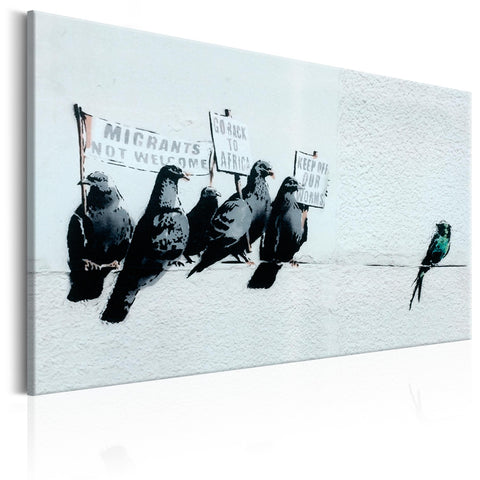 Canvas Print - Protesting Birds by Banksy