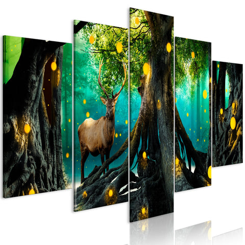 Canvas Print - Enchanted Forest (5 Parts) Wide