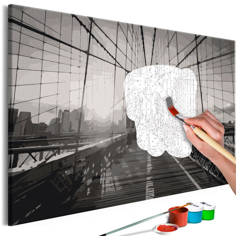 DIY canvas painting - New York Bridge