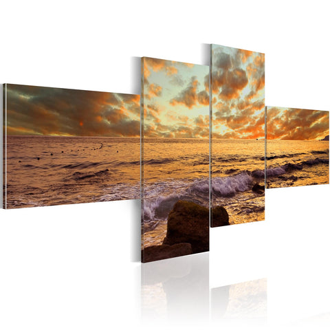 Canvas Print - Sunset over the sea