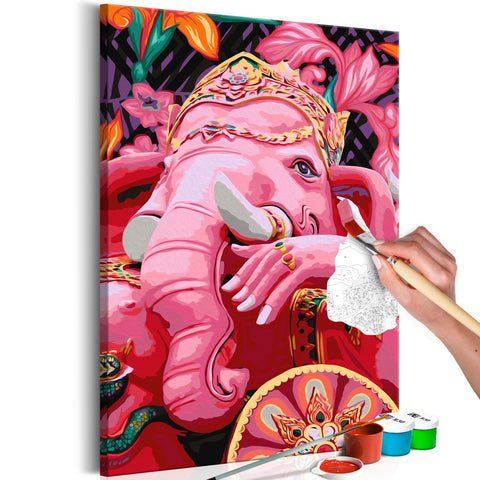 DIY canvas painting - Ganesha