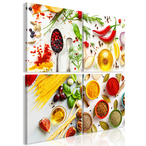 Canvas Print - Spices of the World (4 Parts)