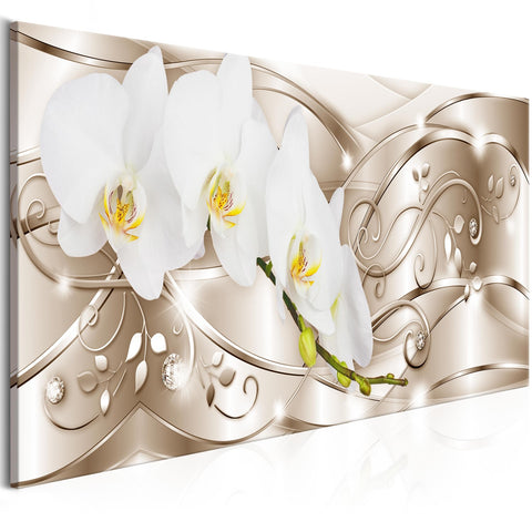 Canvas Print - Flowering (1 Part) Narrow Beige