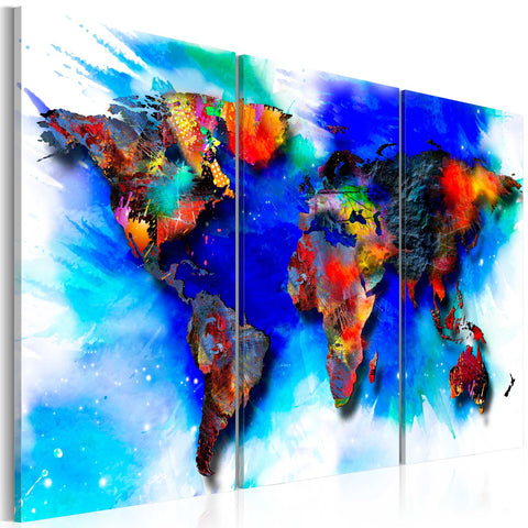 Canvas Print - Rainbow map