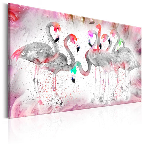 Canvas Print - Flamingoes Family
