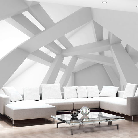 Wallpaper - White Construction