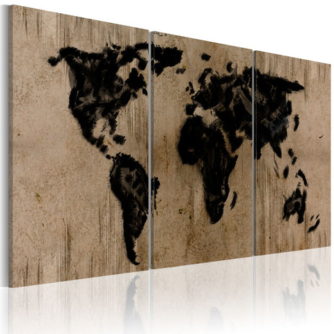 Canvas Print - Inky map of the World