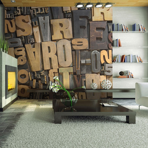 Wallpaper - Wooden letters
