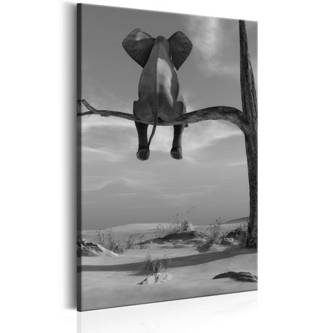 Canvas Print - Resting Elephant