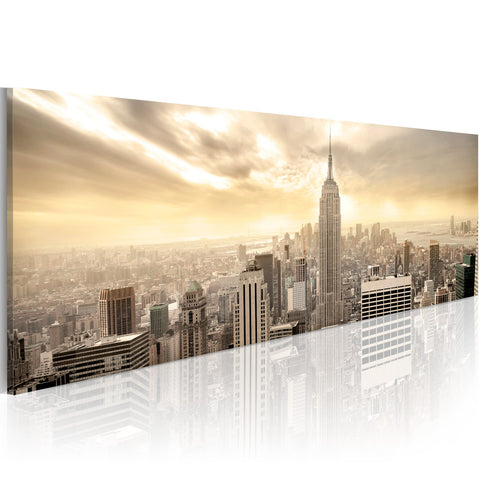Canvas Print - New York City among the clouds