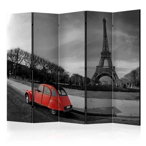 Room Divider - Eiffel Tower and red car II [Room Dividers]