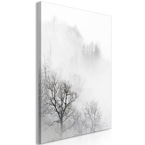 Canvas Print - Trees In The Fog (1 Part) Vertical