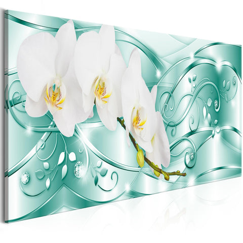 Canvas Print - Flowering (1 Part) Narrow Green
